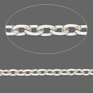 link 3x2mm Silver chain silver
