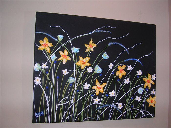 Acrylic Painting Black Background Google Search Painting