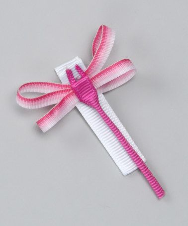 Take a look at this Pink Dragonfly Clip by Monkey Loves Bownanas on #zulily today!