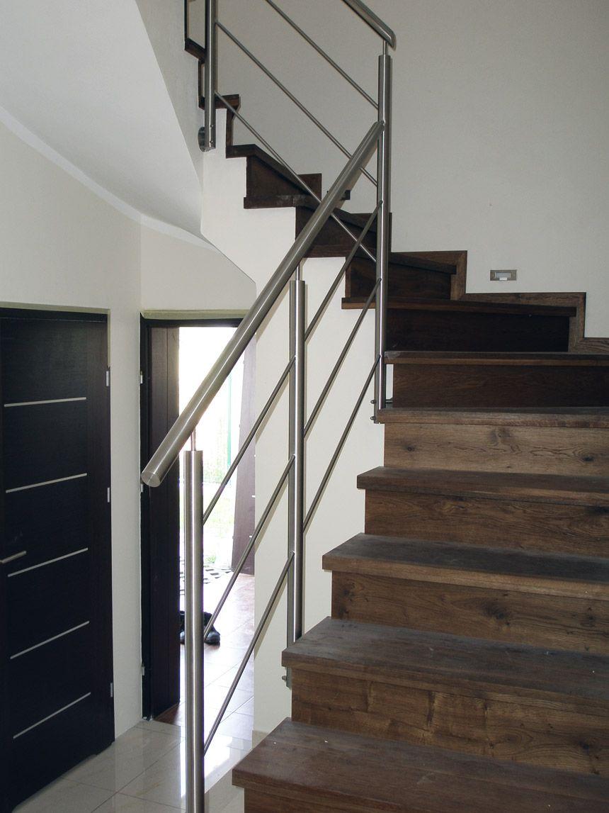 Balustrada Wewnetrzna Ze Stali Nierdzewnej Inox Pruszkow Stair Railing Stairs Home
