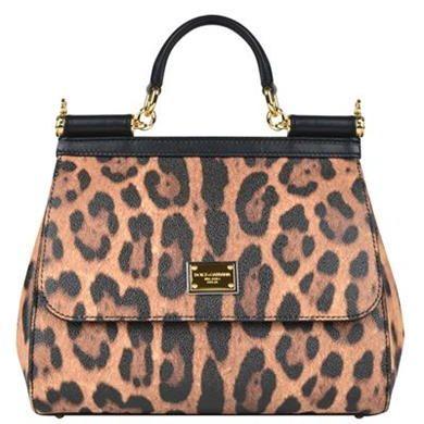 dolce & gabbana | small miss sicily leopard bag | .