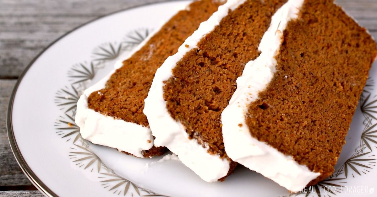 Grain free carrot cake with coconut cream frosting