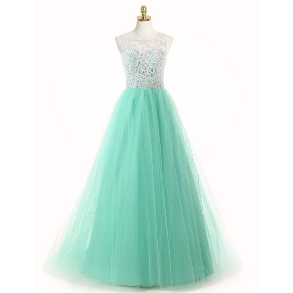 Vintage Mint Bridesmaid Dresses Long Robe Demoiselle d\'honneur A ...