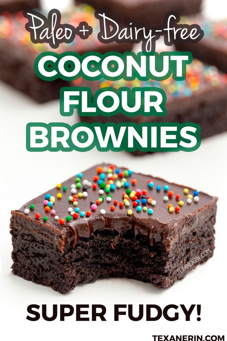 Coconut Flour Brownies (paleo and super fudgy!) -