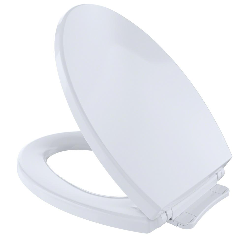 Toto Softclose Elongated Closed Front Toilet Seat In Cotton White