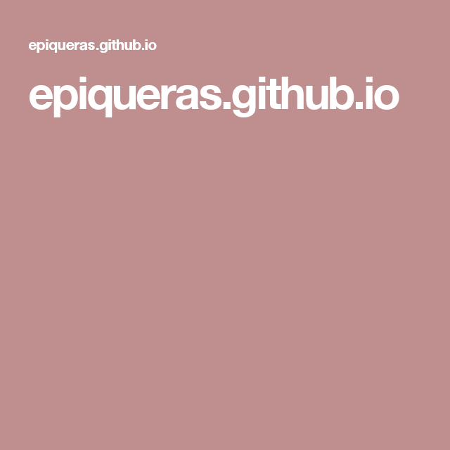 epiqueras.github.io Github