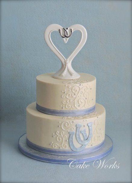 Lucky Horseshoe Wedding Cake Cake Cake Works Cowgirl Cakes