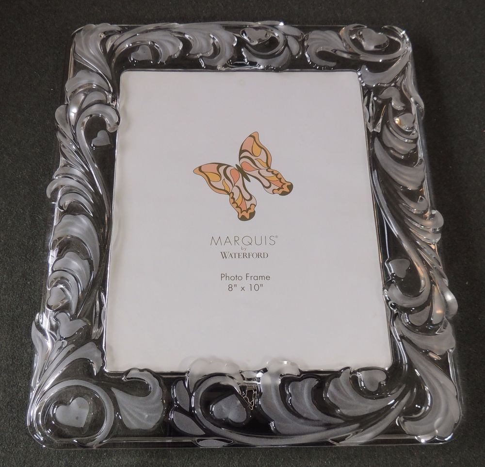 Waterford Marquis Crystal 8 x 10 Frosted & Clear Bridal Wedding ...