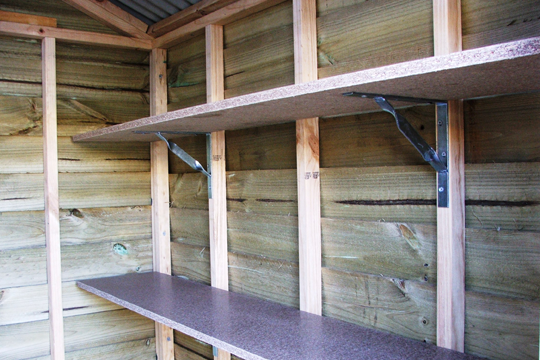 Storage shed shelving plans shed plan project for Design a shed cubbies