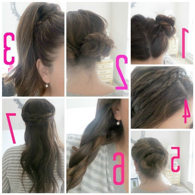 Eid Hairstyle 2017 Step By Step For Pakistani Girls Medium Hair Styles Easy Hairstyles Girls Hairstyles Easy