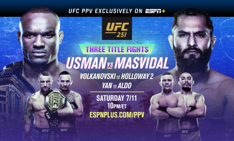 Ufc 251 Usman Vs Masvidal Live Results In 2020 Ufc Ufc Fight Night Streaming