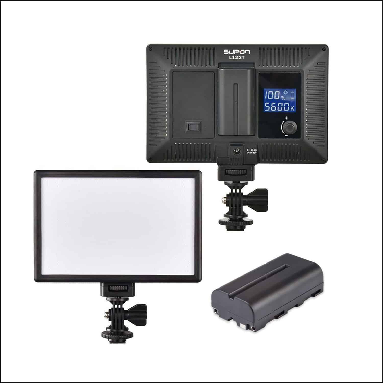 low priced d006d 34848 SUPON LED-L122T Super Slim LED Light Panel on-camera | Top ...