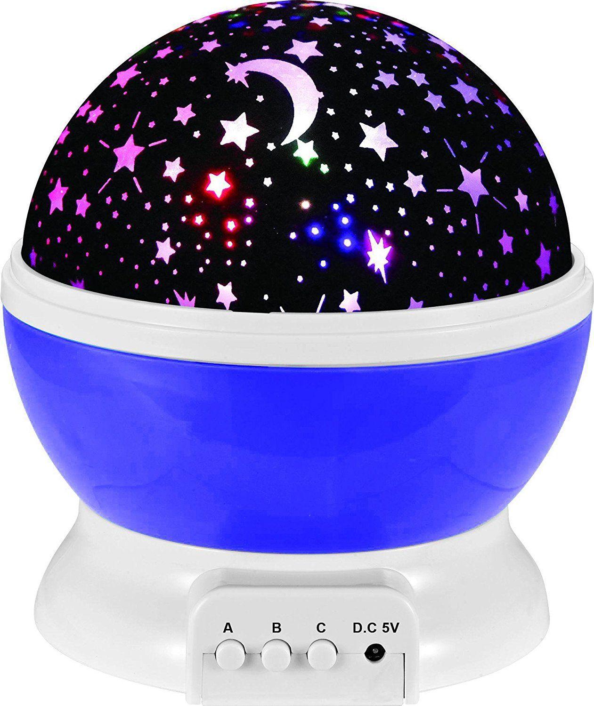 Stillcool Baby Night Light Star Projector 360 Degree Rotation 4 Led Bulbs Lamp 5 Light Color Changi Starry Night Light Night Light Projector Night Light Lamp