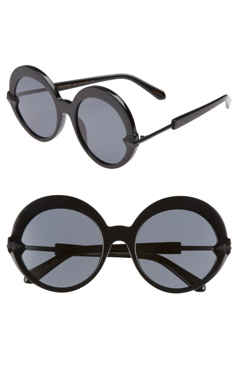 beb131bd7e ... and returns on Karen Walker Romancer 56mm Round Sunglasses at  Nordstrom.com. Make a mod statement in standout sunglasses featuring bold