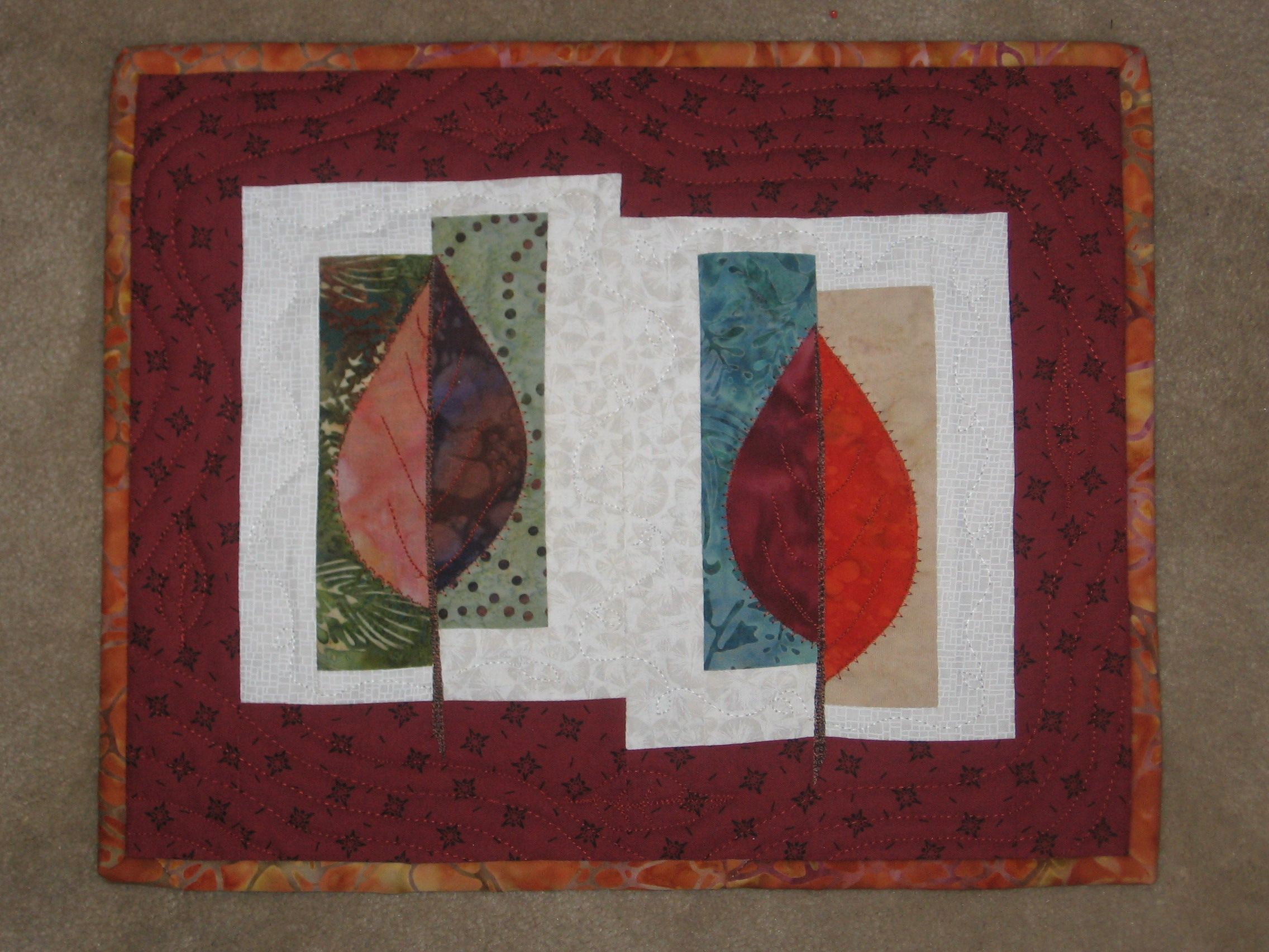 Bouquet Of Patchwork Quilt Pattern By Carlene Westerberg Designs ... : leaf quilts - Adamdwight.com