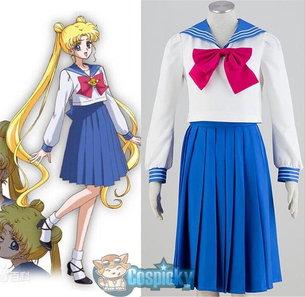 Sailor Moon Tsukino Usagi cosplay costume Girl School sailor Uniform Dress