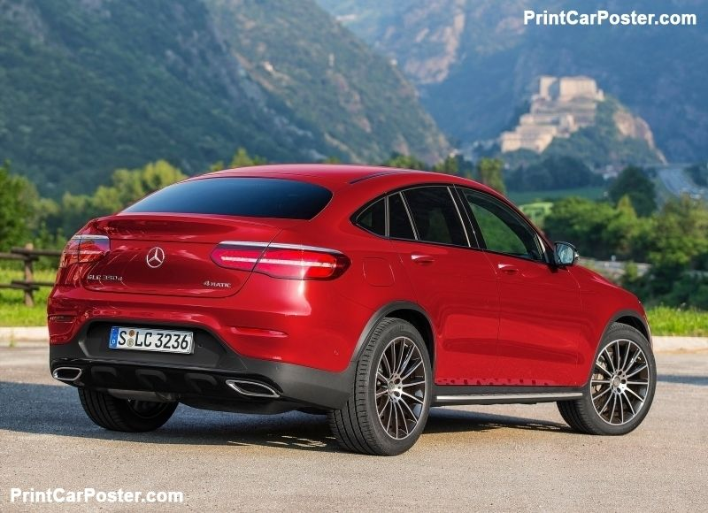 Mercedes Benz Glc Coupe 2017 Poster Mercedes Benz Glc Coupe