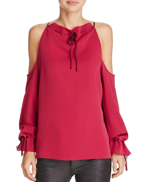 df4c3d90804d8 Cooper   Ella Camila Tie-Neck Cold-Shoulder Top
