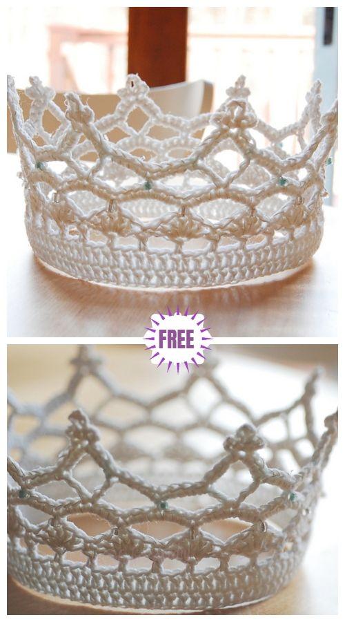 Crochet Royal Crown Free Crochet Pattern #crochetedhats