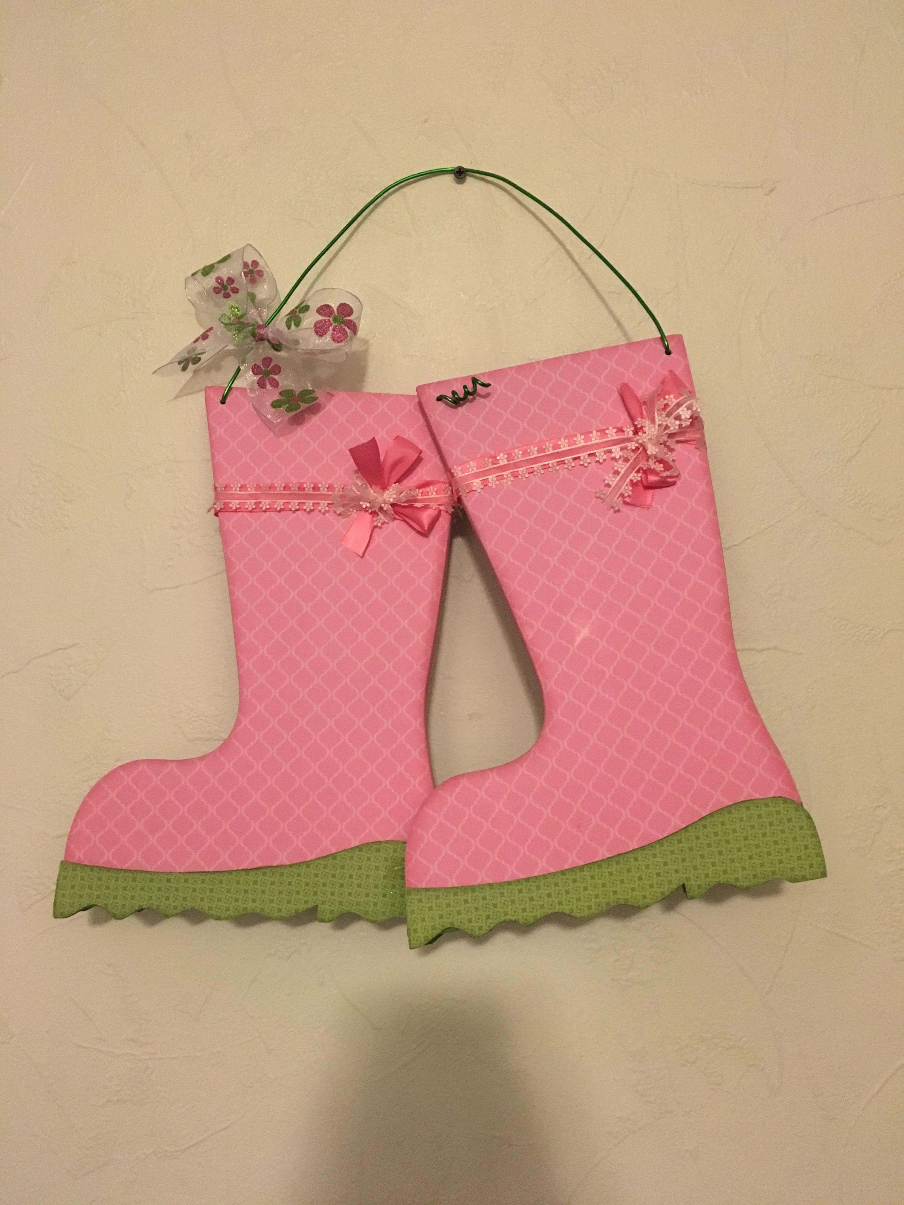 Hanging Rain Boots From Wood Creations Side 1