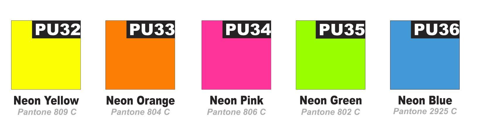 Pantone Color Chart Neon Orange Zeenla