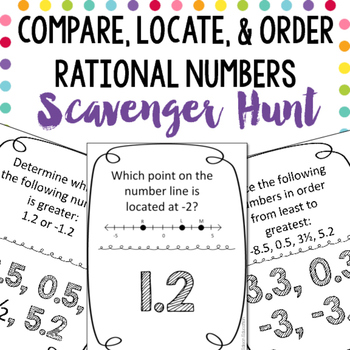 Scavenger Hunt: Compare, Locate, & Order Rational Numbers ...
