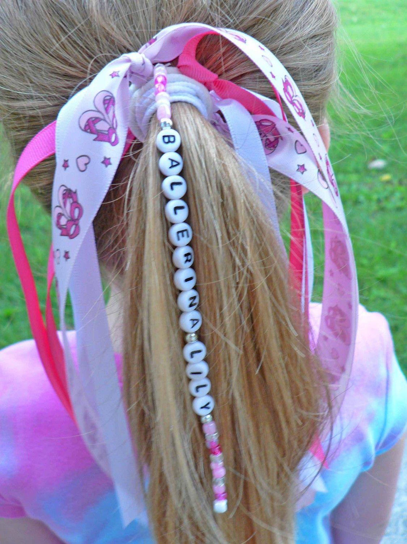 ballerina ribbon personalized