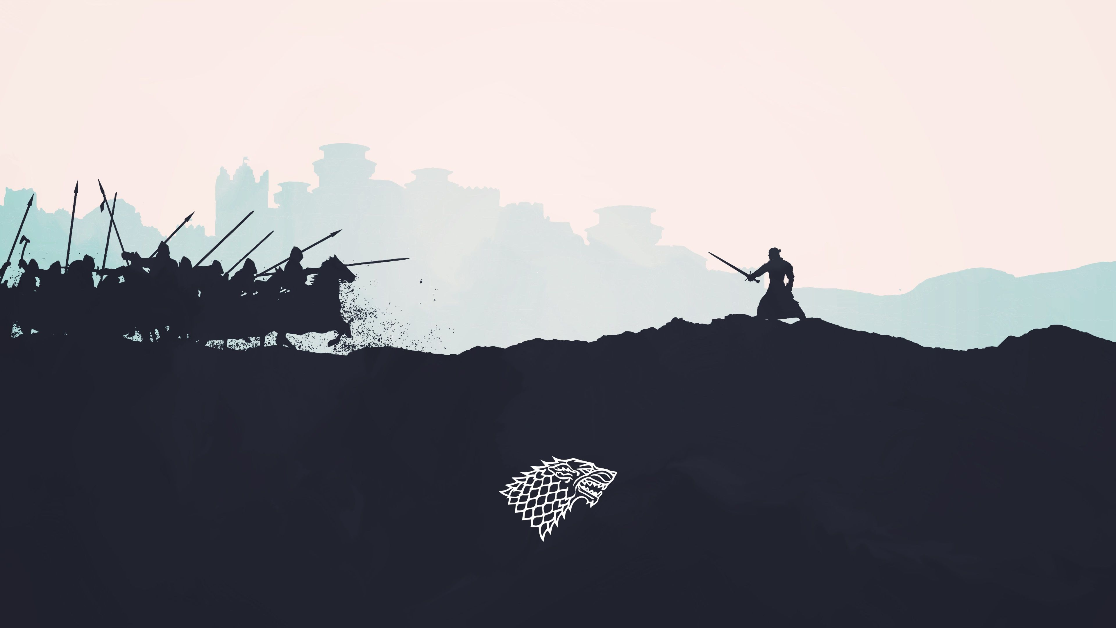 3840x2160 Game Of Thrones 4k Desktop Backgrounds Wallpaper Desktop Wallpapers Backgrounds Silhouette Art Game Of Thrones Artwork
