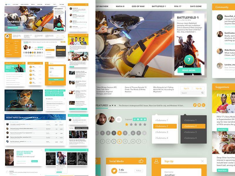 Sketch:+Gaming+Ui+Kit | UI Kit | Ui kit, Game ui, Sketches