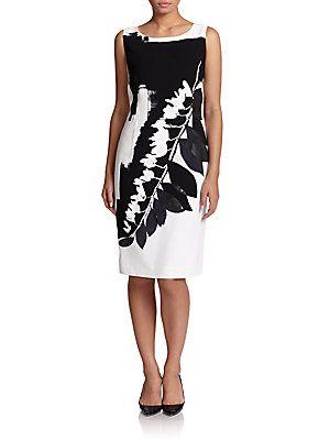 Marina Rinaldi, Sizes 14-24 Printed Stretch Dress