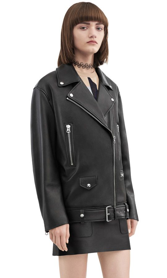Acne Studios More black Oversized Biker jacket