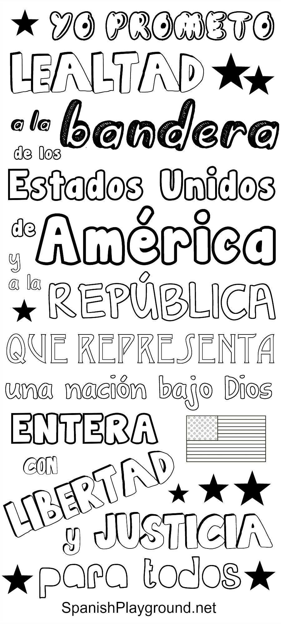Pledge Of Allegiance In Spanish Speak Spanish Spanish