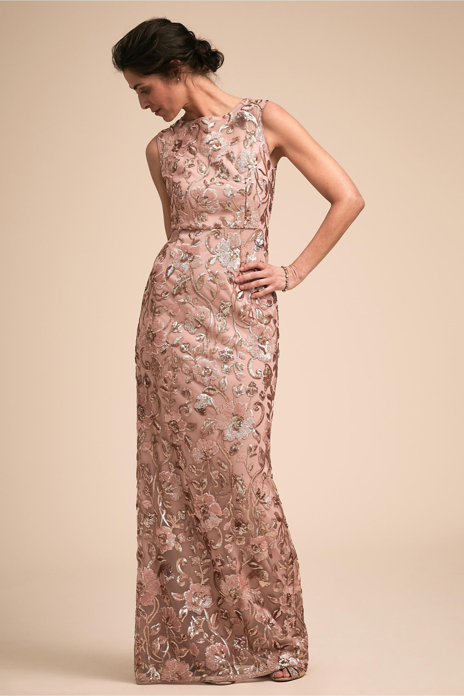 wholesale 2019 professional discount BHLDN's Adrianna Papell Clarence Dress in Rose Gold ...