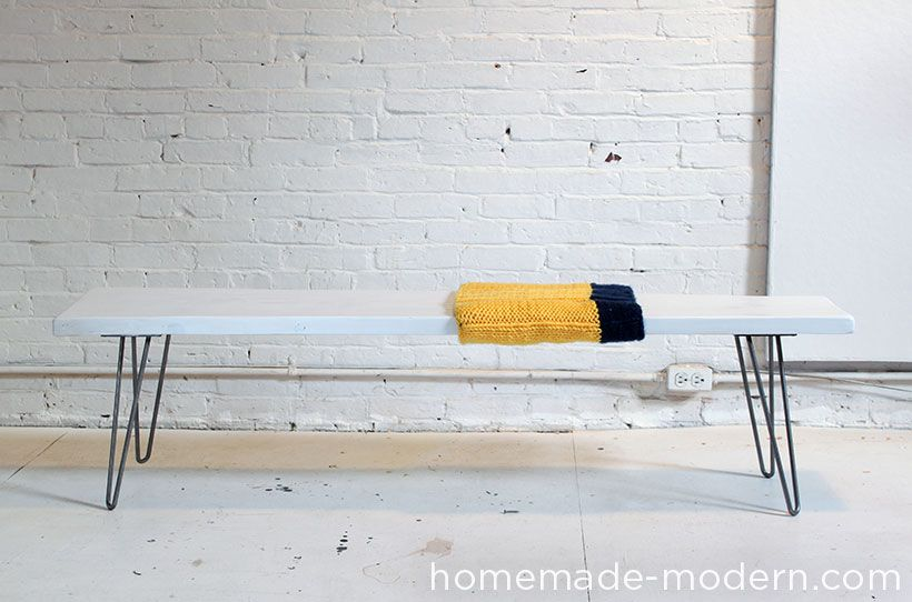Homemade Modern Diy Wood And Wool Bench Options Homemade Modern Modern Diy Easy Woodworking Projects