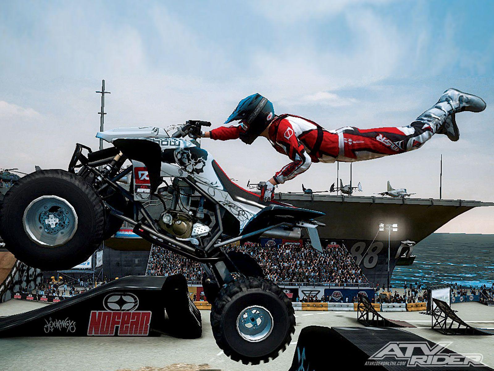 Atv Jumping Mx Vs Atv Reflex Atv Jump Photo 2 Car Places Atv