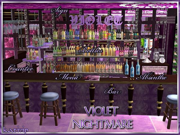 Violet Nightmare 18+ Bar Stool added