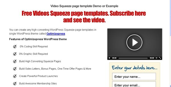 Squeeze Page Templates For High Conversion In Sales Funnel - Free squeeze page templates