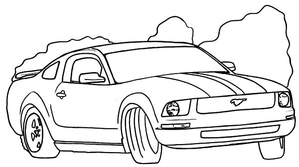 Drifting Mustang Car Coloring Pages Best Place To Color In 2020 Race Car Coloring Pages Cars Coloring Pages Truck Coloring Pages
