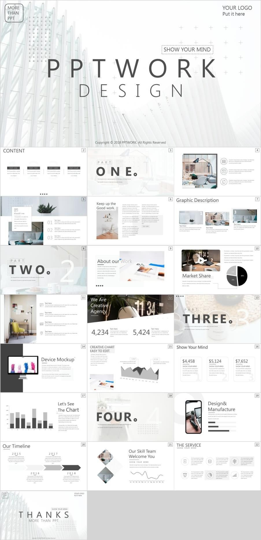 Best White Company Report Powerpoint Template Powerpoint