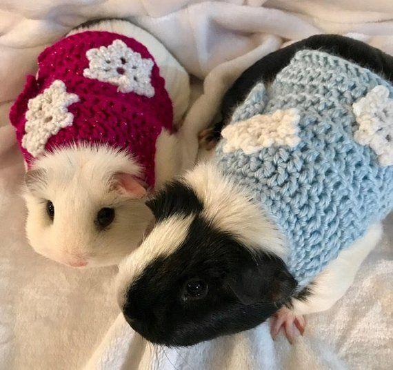 Guinea Pig Snowflake Sweater Christmas Sweater Guinea Pig