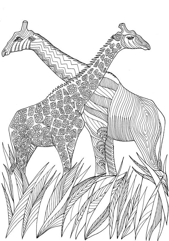 Adult Coloring Book Printable Coloring Pages by JoenayInspirations - best of coloring pages to print animals