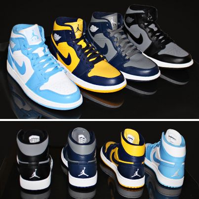 wholesale dealer c82cc f9825 Jordan is showing school pride! The Air Jordan 1 Retro Mid dropped its  College Pack