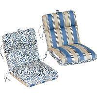 Replacement Patio Chair Cushion Verti Cadet W Hamilton Stripe