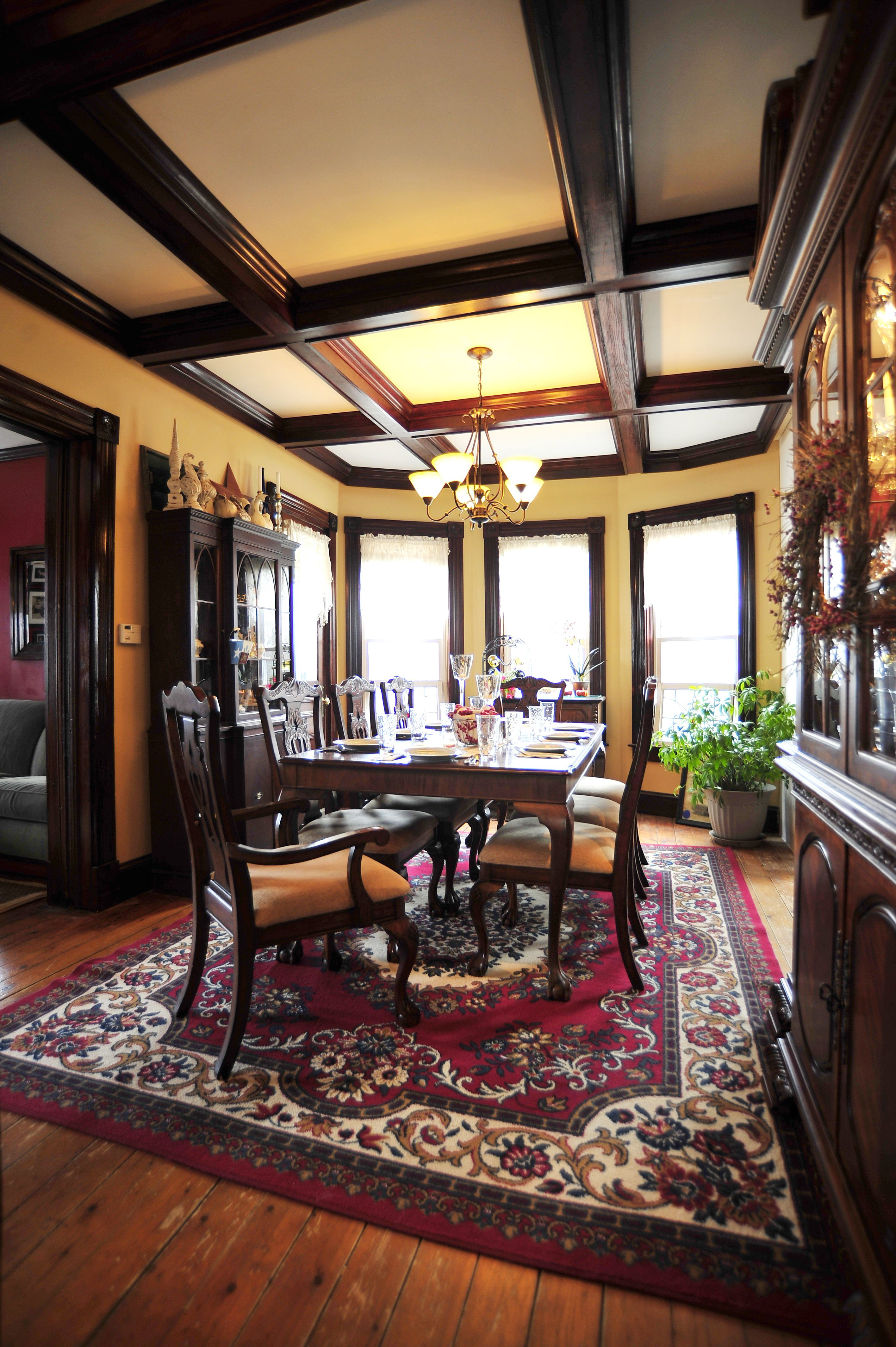 victorian dining room--this approximate table and chair set may
