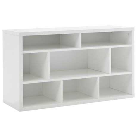 UPSTAIRS LIVING: Signature S Bookcase Low White $499 - UPSTAIRS LIVING: Signature S Bookcase Low White $499 Client: 8