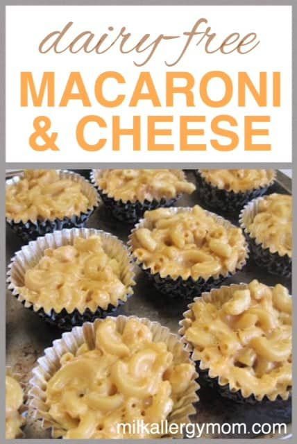 Dairy-Free Mac and Cheese Cups #dairyfreesmoothie