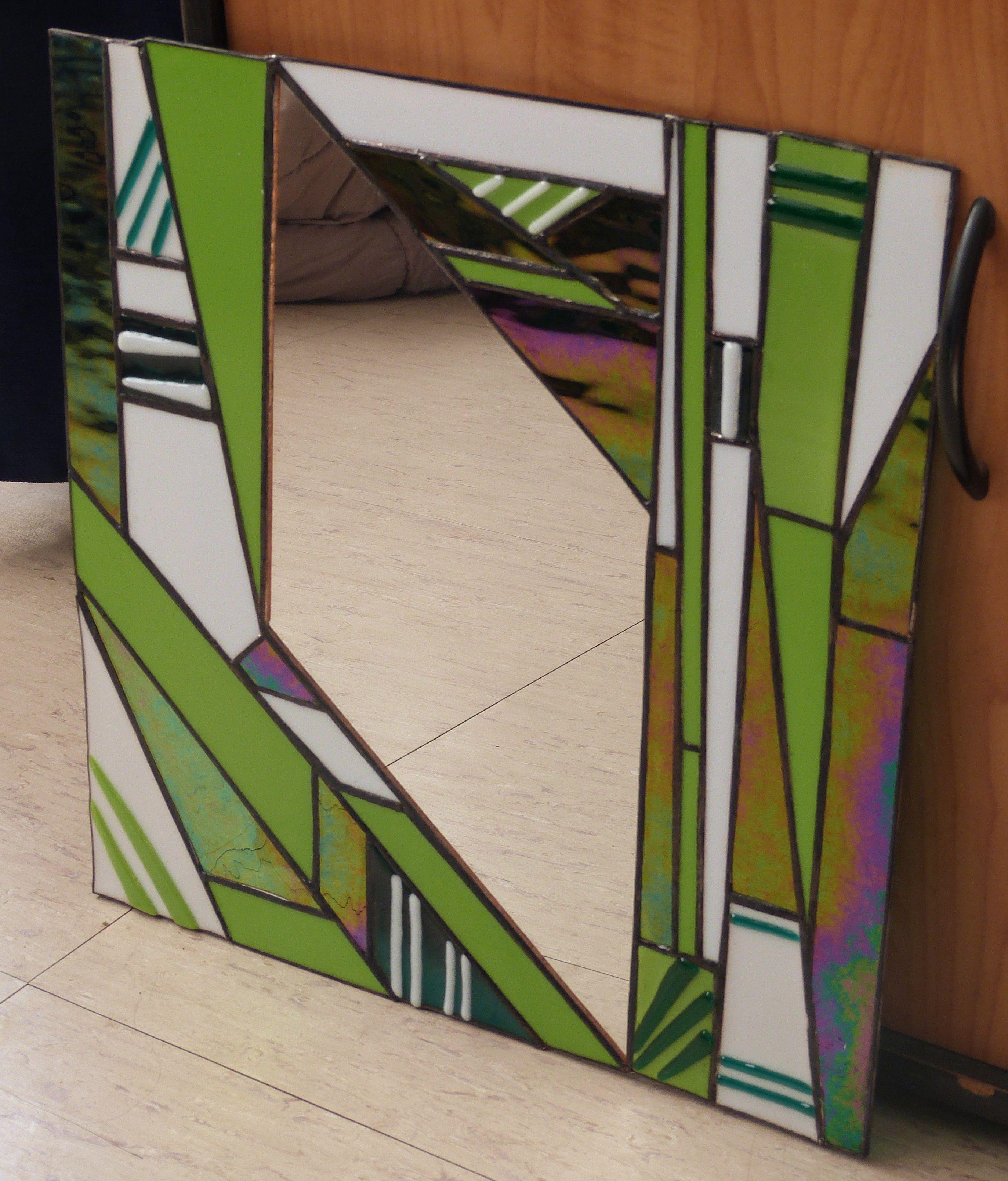 miroir vitrail art d co miroir pinterest. Black Bedroom Furniture Sets. Home Design Ideas