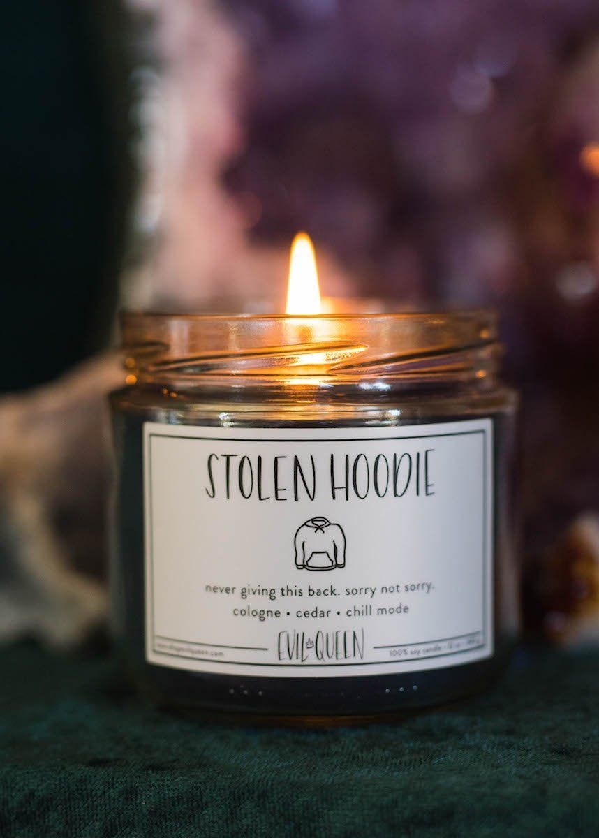 Stolen Hoodie Candle Smells Like Cologne Cedar Chill Mode