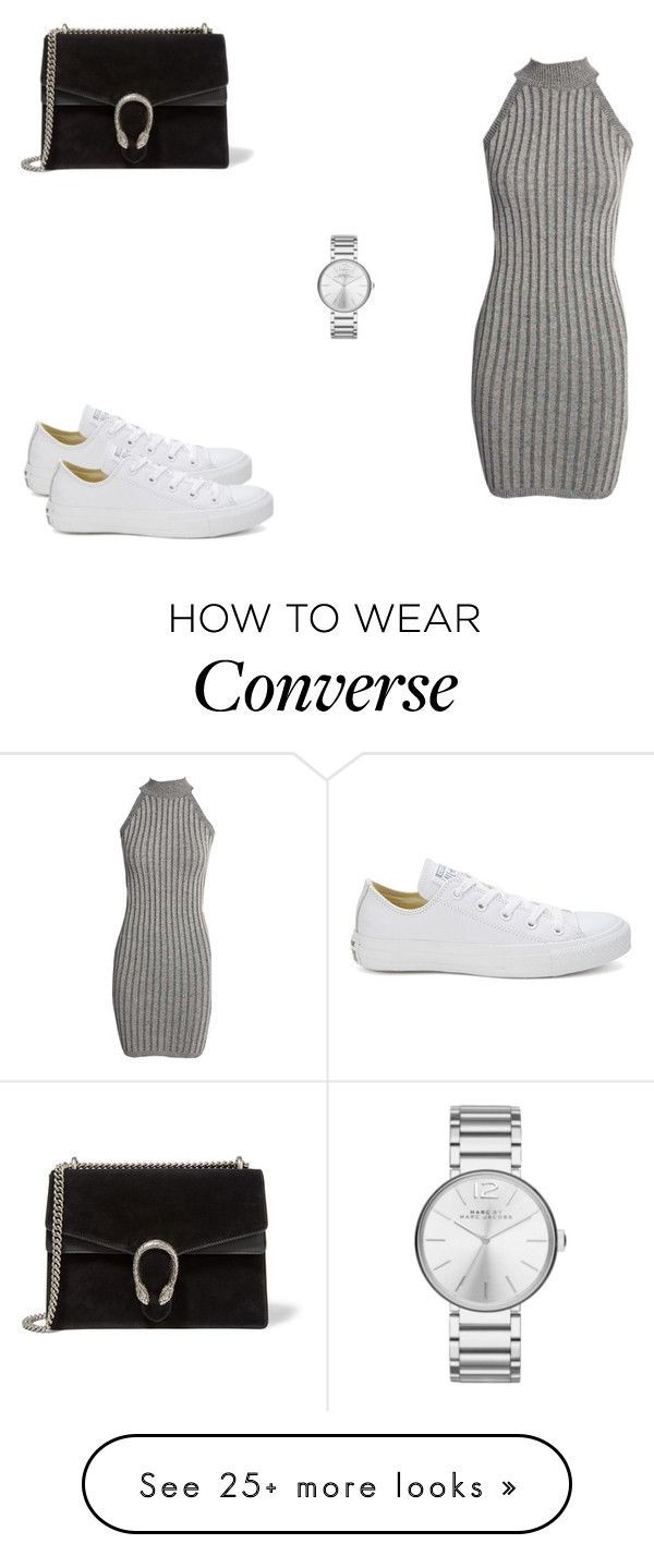 """190 outfit"" by julieannbb13 on Polyvore featuring Boohoo, Converse, Gucci and Marc Jacobs"