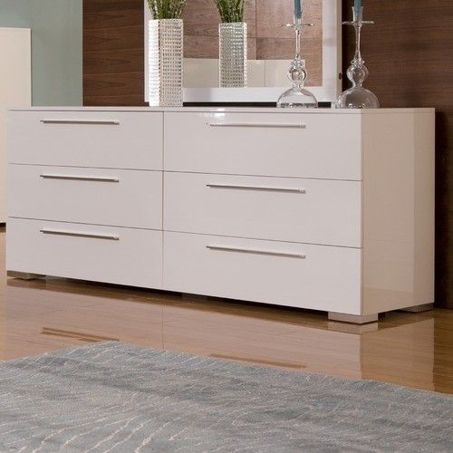 Awesome White Dressers With Chico Double Dresser In White Lacquer